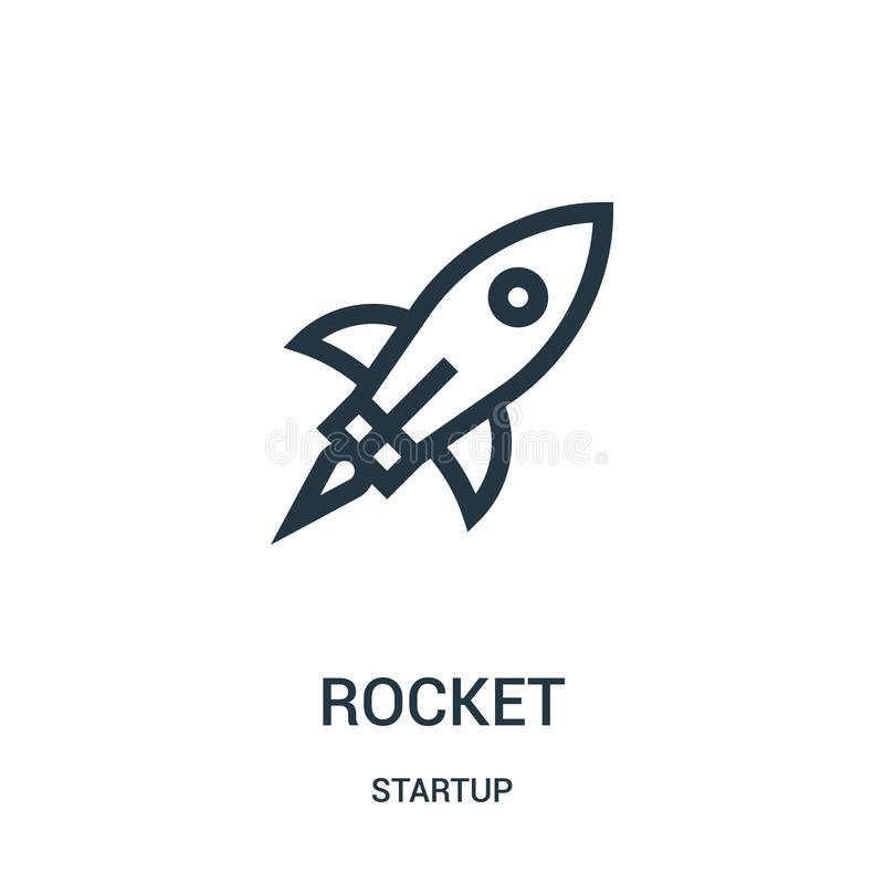 Rocket icon vector from startup collection. Thin line rocket outline icon vector illustration. Linear symbol for use on web and mobile apps, logo, print media vector illustration