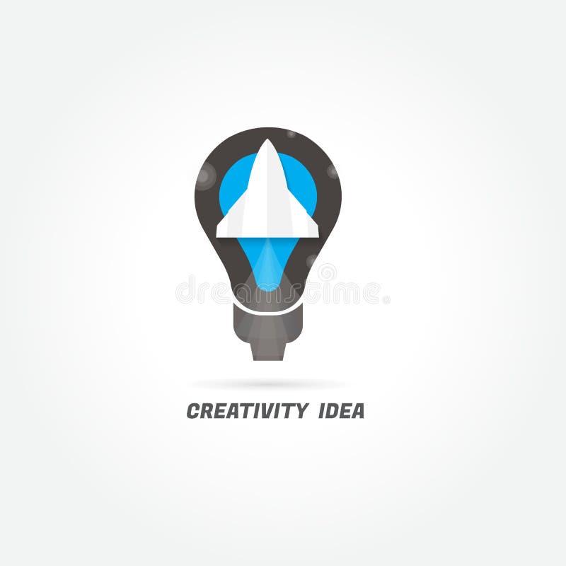 Rocket Ideia da faculdade criadora logo Projeto moderno Vetor Illustratio ilustração royalty free