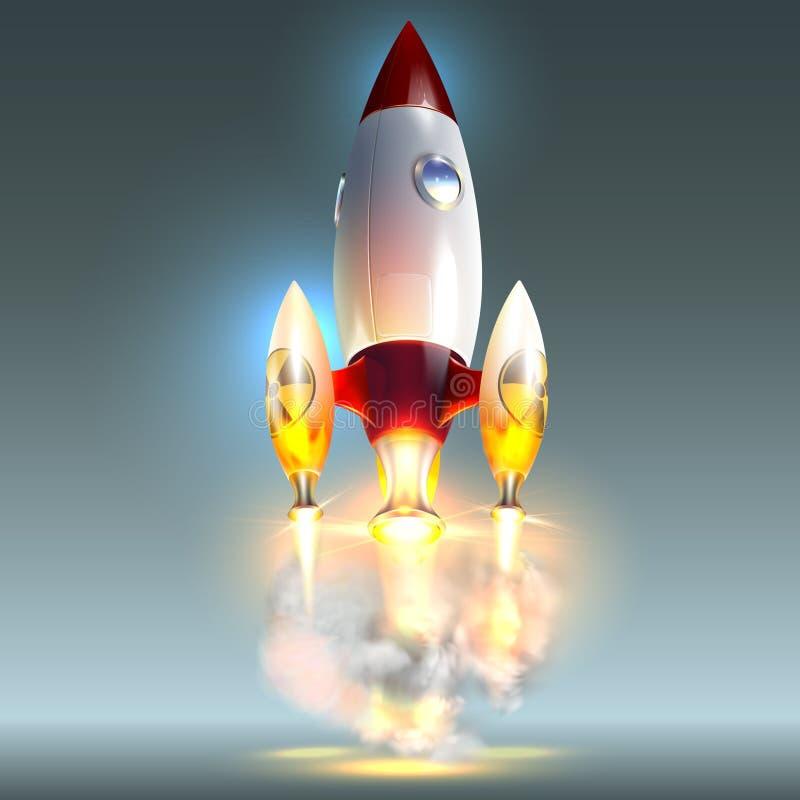Rocket, Ikone Weltraumraketeprodukteinf?hrung Kreative Idee Atomraketen lizenzfreie abbildung