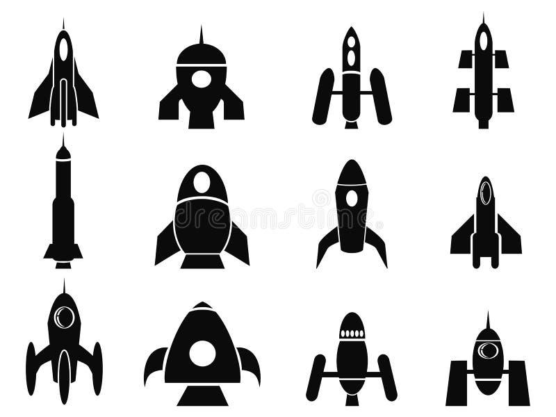 Rocket-Ikonen stock abbildung