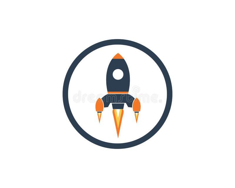 Rocket ilustration logo vector icon stock illustration