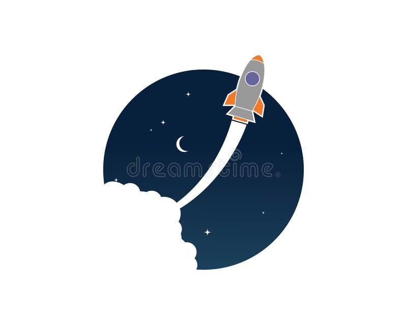 Rocket ilustration logo vector icon royalty free illustration
