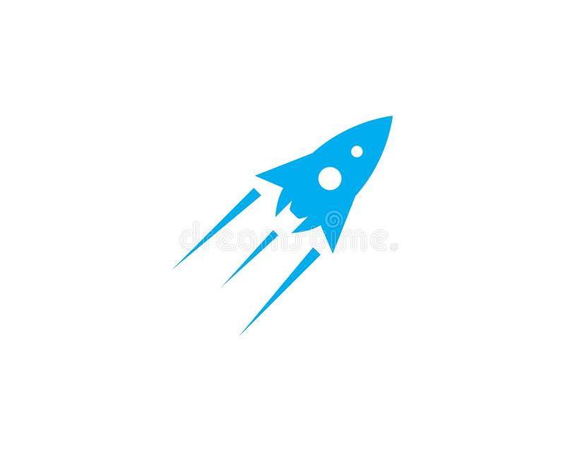 Rocket ilustration logo vector royalty free illustration