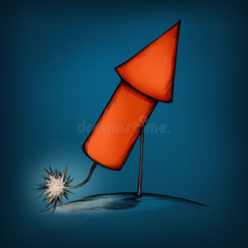 Rocket kurz vor Zündung vektor abbildung