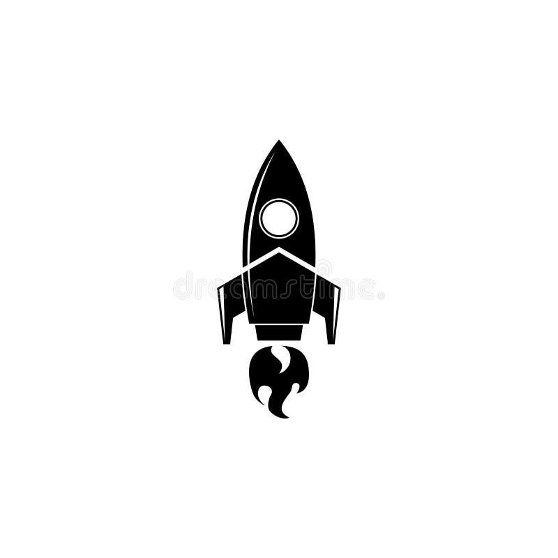Rocket a lancé le logo illustration de vecteur