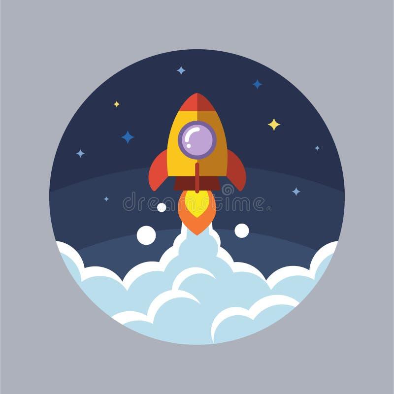 Rocket Launch à l'espace image libre de droits