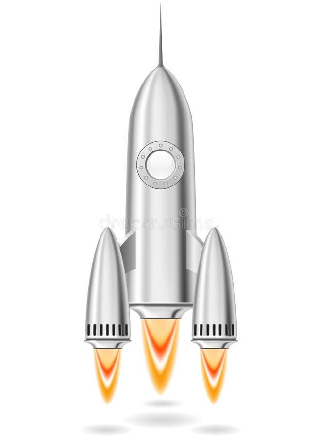 Download Rocket launch stock vector. Image of metal, flying, fire - 25888804