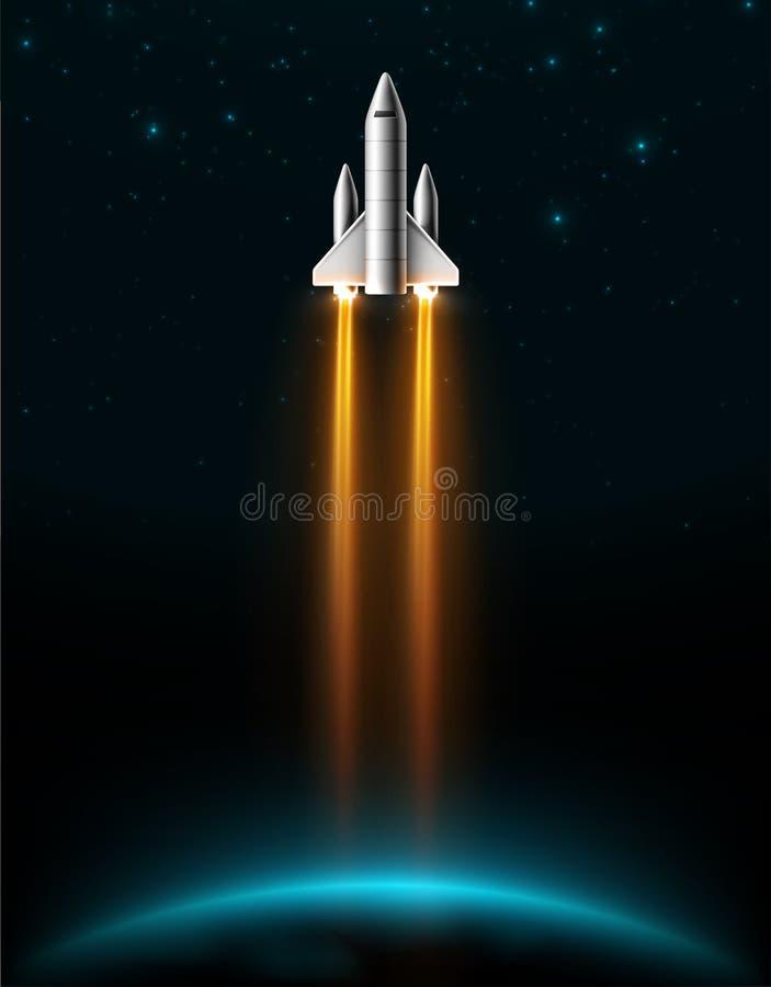 Rocket Launch illustration stock