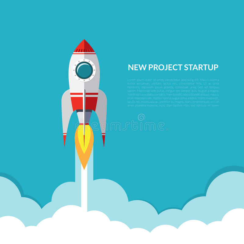 Rocket launch royalty free illustration
