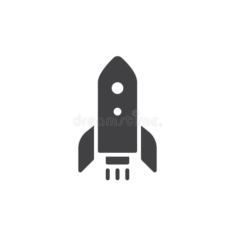 Rocket launch icon vector. Filled flat sign, solid pictogram isolated on white. Startup rocket symbol, logo illustration stock illustration