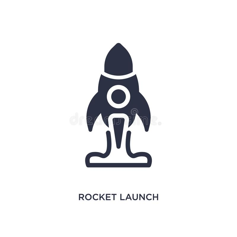 rocket launch icon on white background. Simple element illustration from user interface concept royalty free illustration