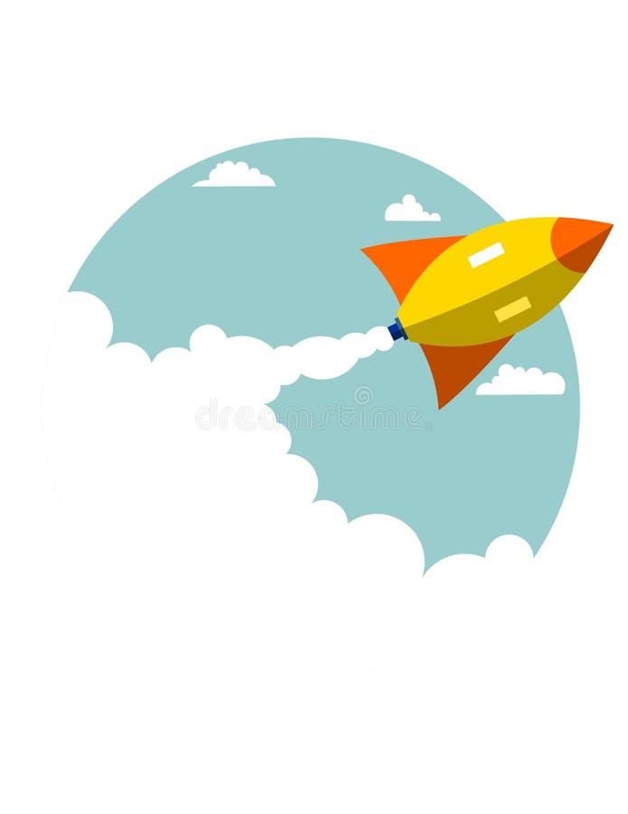 Rocket Launch Ideas royalty-vrije illustratie