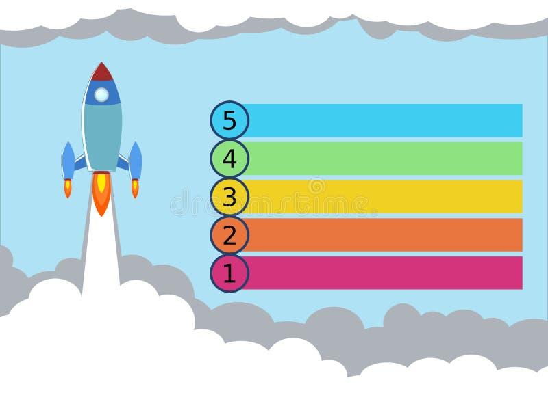 Rocket Launch Infographics Illustration fotografia stock libera da diritti