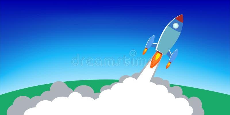 Rocket Launch Infographics Illustration immagine stock
