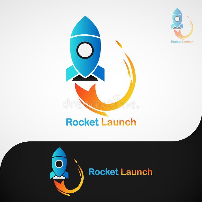 Rocket Launch Logo image stock