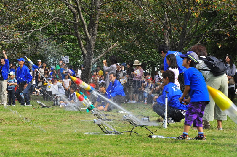 Download Rocket Launching By Children During JAXA Open-hous Editorial Image - Image: 16514890