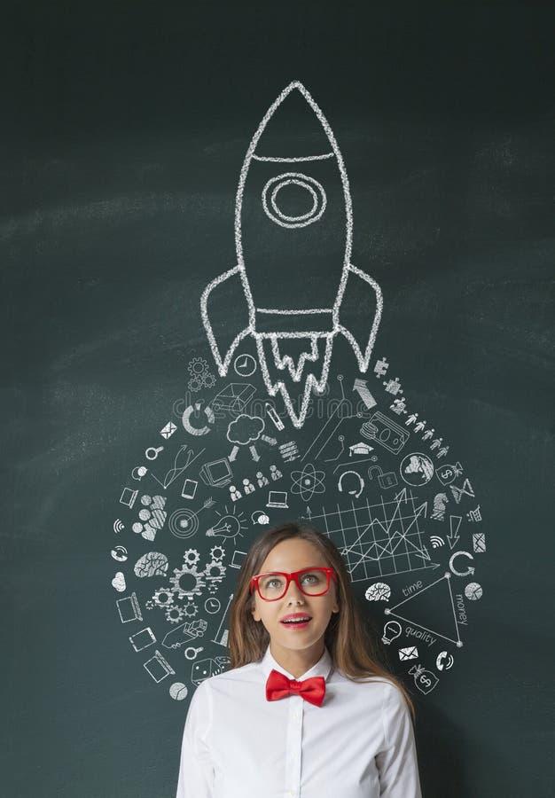 Rocket Leadership Concept royalty free stock image