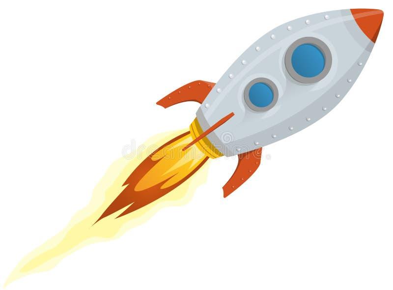 Rocket-Lieferung stock abbildung