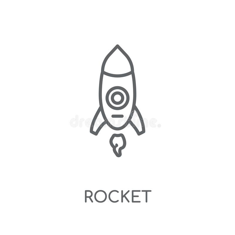 Rocket linear icon. Modern outline Rocket logo concept on white stock illustration