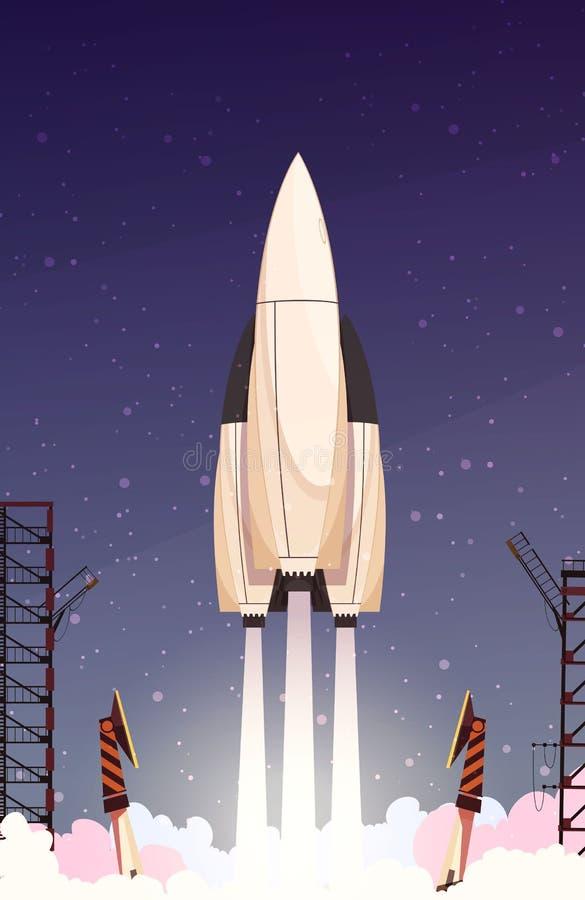 Rocket Missile Takeoff Composition stock illustration
