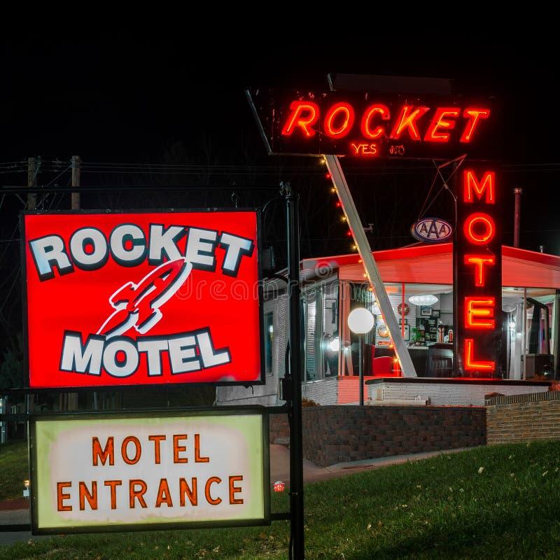 Rocket Motel en Custer City photographie stock