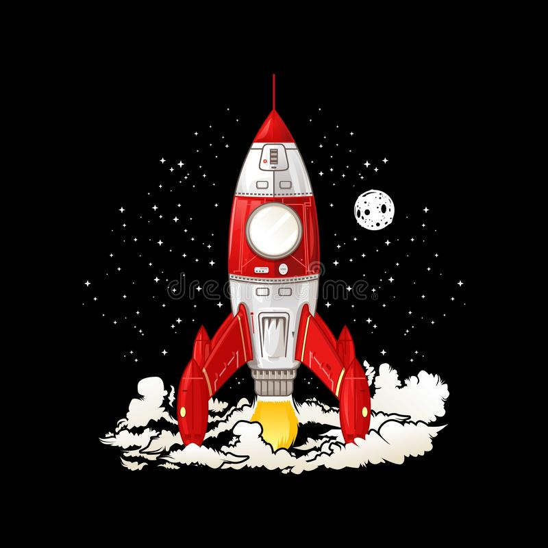 Rocket Need more space [Vector] vector illustration