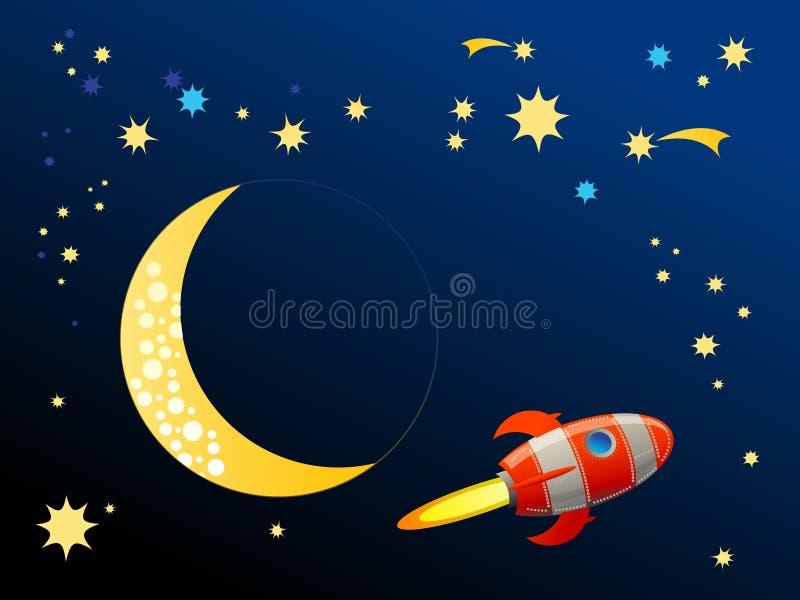 Rocket no espaço ilustração royalty free