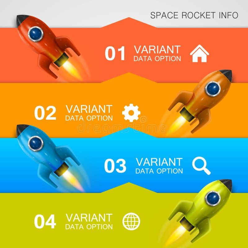 Rocket racing info art cover royalty free illustration