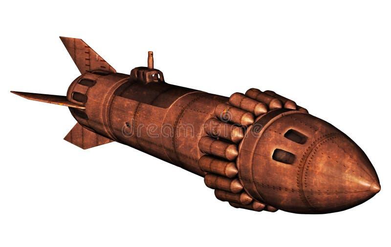Rocket retro stock de ilustración