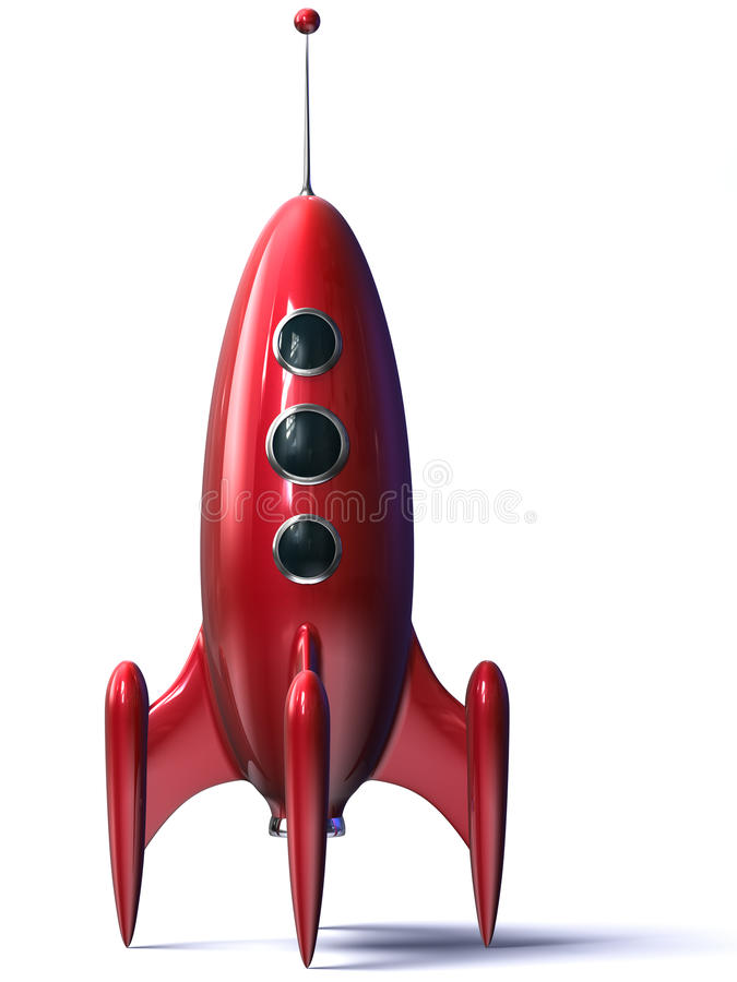 Rocket rojo ilustración del vector