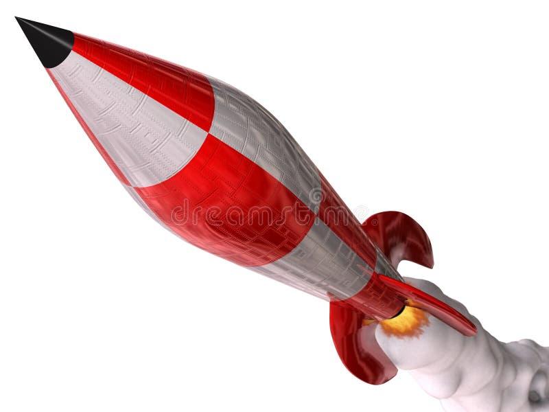 Rocket rouge illustration de vecteur