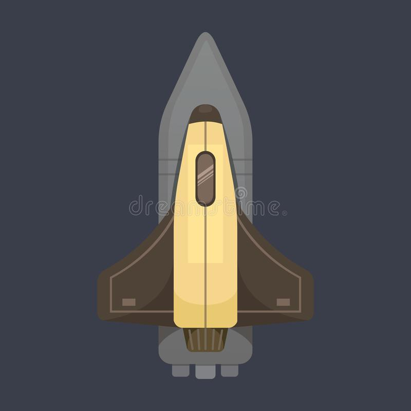 Rocket ship in cartoon style. New Businesses Innovation. Development Flat Design IconsTemplate royalty free illustration