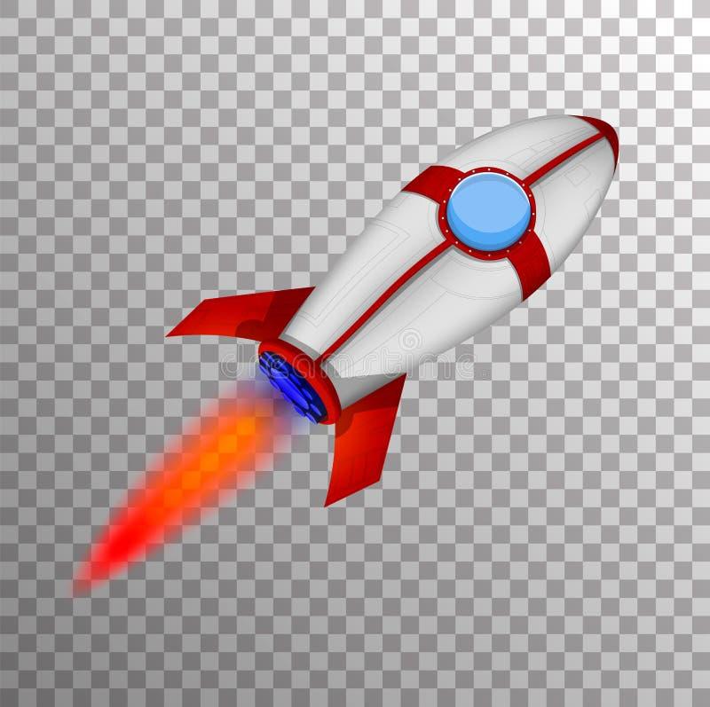 Rocket Ship en un estilo de la historieta stock de ilustración
