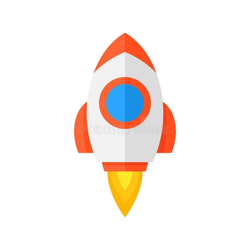 Rocket ship icon royalty free illustration