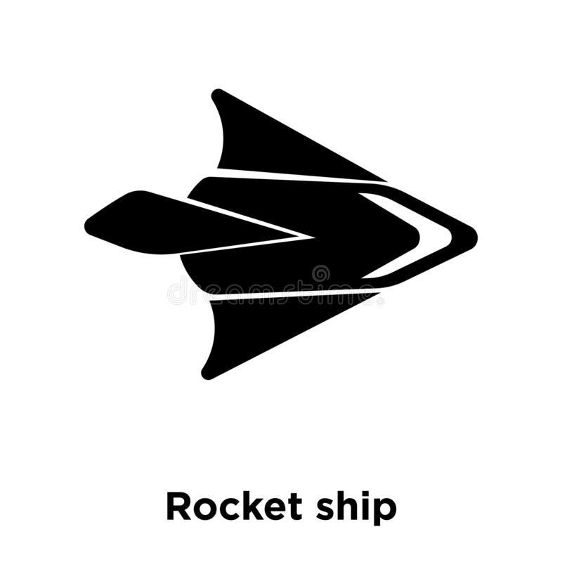 Rocket ship icon vector isolated on white background, logo concept of Rocket ship sign on transparent background, black filled. Rocket ship icon vector isolated stock illustration