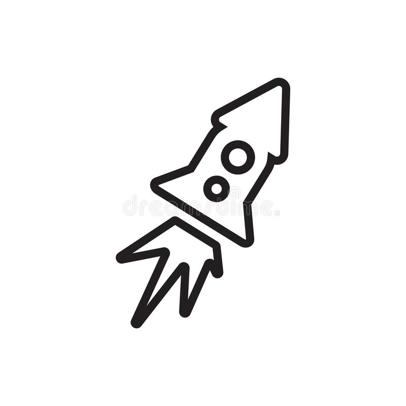 Rocket ship icon vector isolated on white background, Rocket ship sign. Rocket ship icon vector isolated on white background, Rocket ship transparent sign stock illustration
