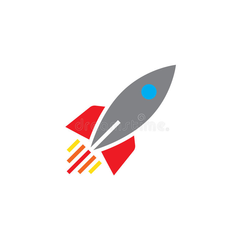 Rocket ship icon vector, solid logo, pictogram isolated on white. Pixel perfect color illustration vector illustration
