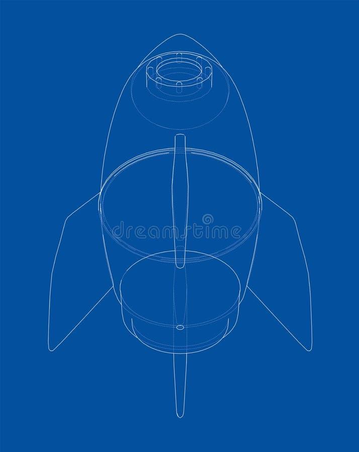Rocket Sketch ilustración 3D libre illustration