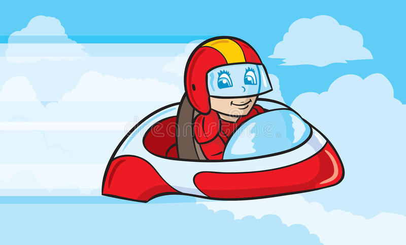 Rocket Sled royalty free illustration