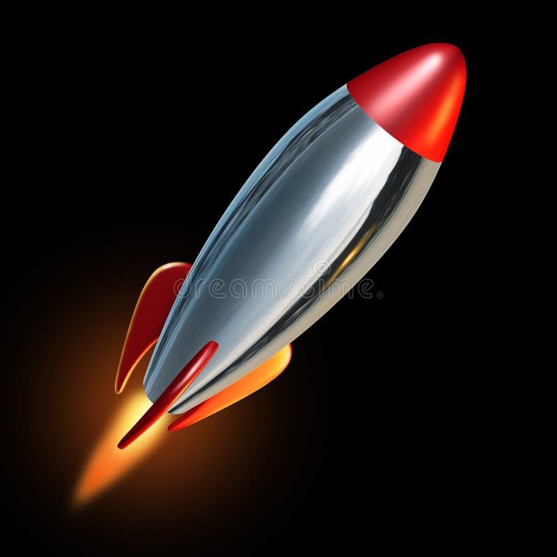 Rocket soufflent hors fonction illustration libre de droits