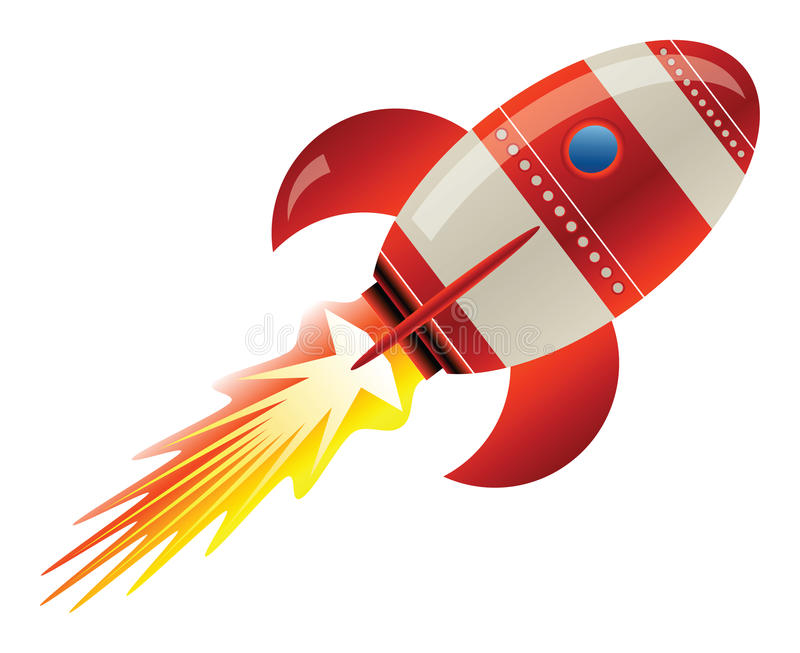 Rocket In Space Stock Vector. Illustration Of Science