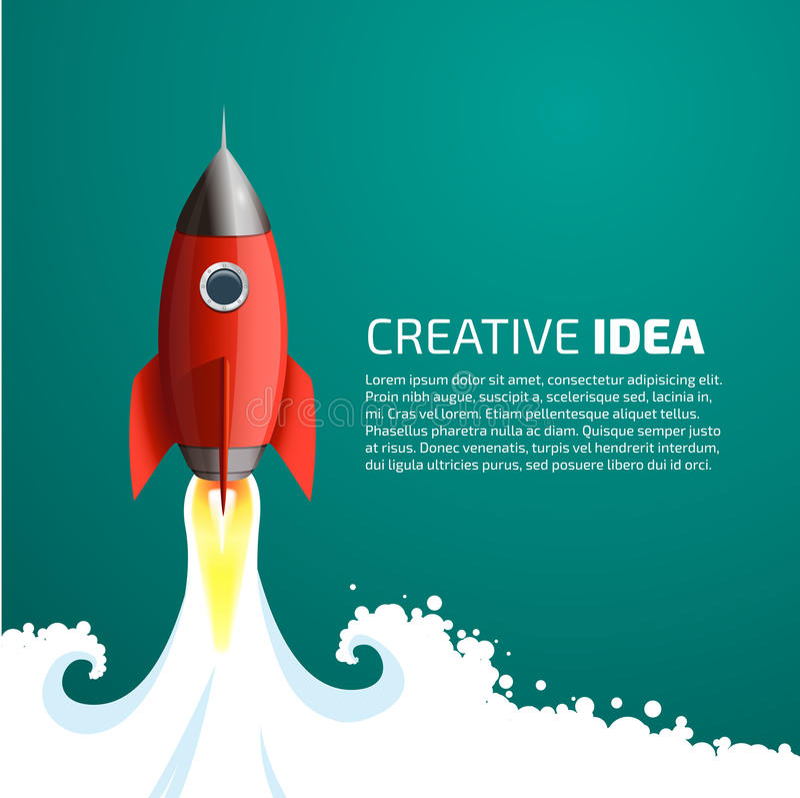 Rocket in space stock illustration