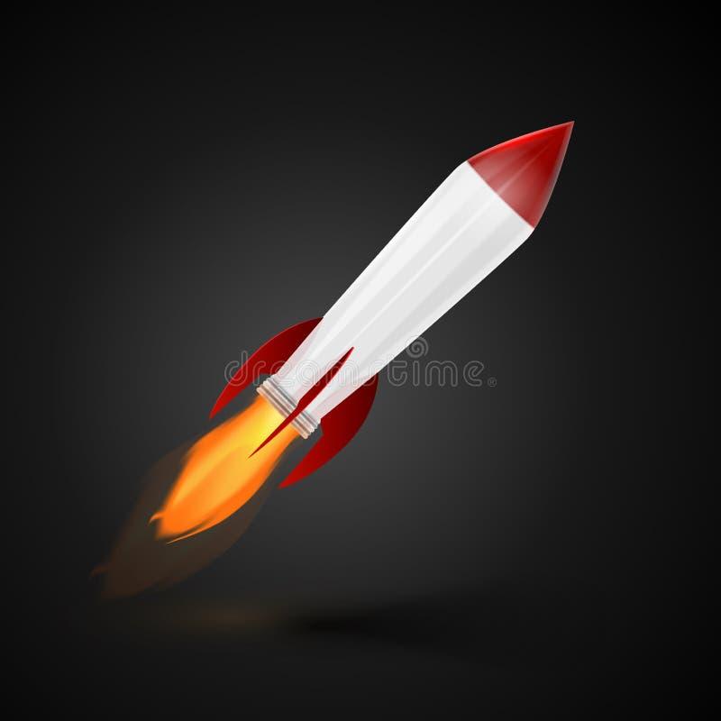 Rocket Space Ship stock de ilustración