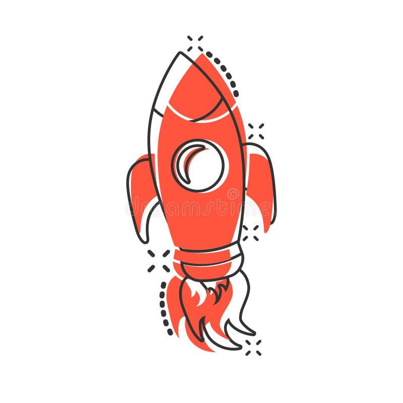 Comic Cartoon Rocket Space Ship Stock Vector