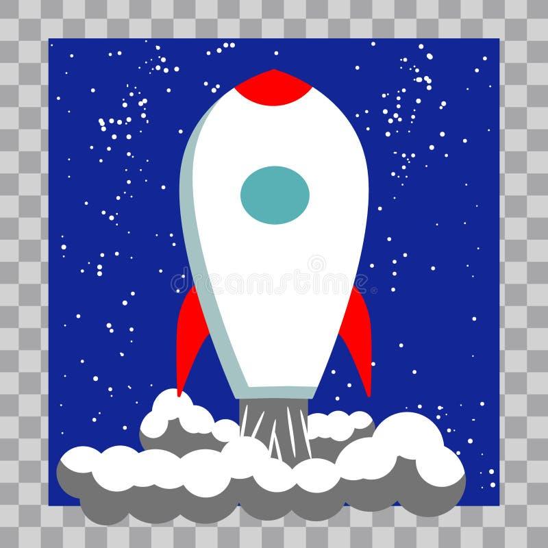 Rocket Space Ship Illustration clásico stock de ilustración