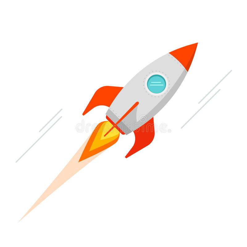 rocket spaceship vector icon isolated stock illustration rh dreamstime com spaceship vector gif spaceship vector gif