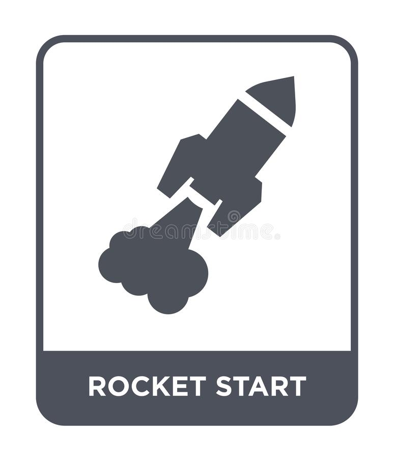 rocket start icon in trendy design style. rocket start icon isolated on white background. rocket start vector icon simple and vector illustration