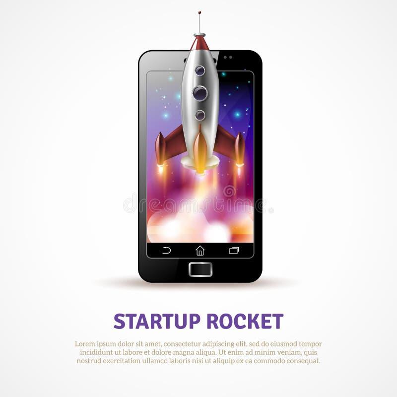 Rocket Startup Poster illustration de vecteur