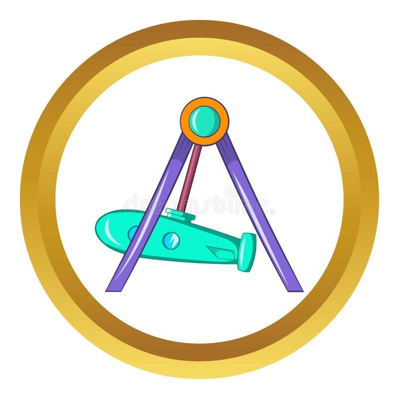 Rocket swing icon royalty free illustration