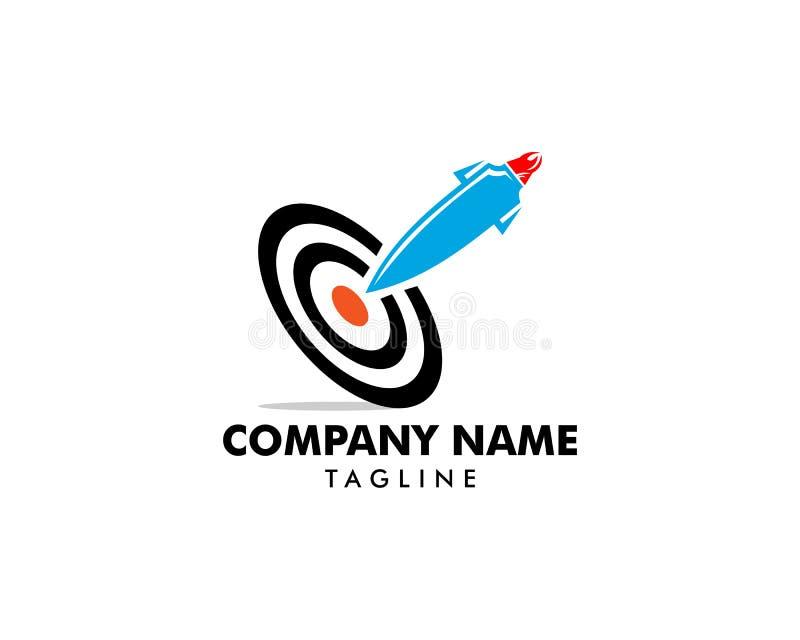 Rocket Target Logo Icon Design vector illustration